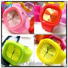 2015 colorful interchangeable silicone jelly watch with customized logo