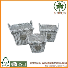wholesale wicker storage decorative baskets for wedding for gift