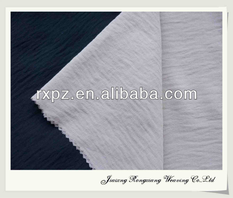 washing effect shaoxing keqiao ITY fasion dyed chiffon wholesale chiffon fabric