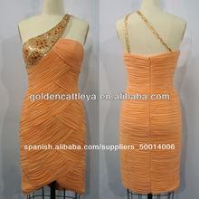florido cw2739 un hombro plisado vestido formal