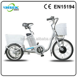 adults 3 wheel tricycles from china with pedal assist