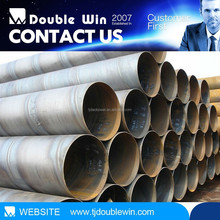 oil painting spiral welding steel pipes price list