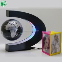 High end gift C shape base 3 inch floating globe thank you for your lovely gift