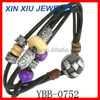 Large stocks & customization accepted Hand woven Leather hand bands Leather wrist strap leather bracelet