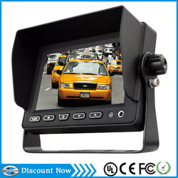 5 inch car tft lcd monitor with Built-in speaker 3X video input VCAN0314-12