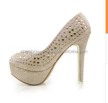 2015 latest romantic wedding sandal clubwear high platform wedge sandal for women