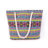High quality rope style stripe canvas beach tote bag wholesale