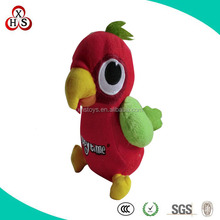 soft red parrot stuffed toy plush bird for kids