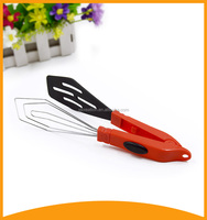 2015 nylon kitchen tools plastic tongs with egg whisk for cooking