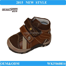 Lovely hard sole kids shoes, newborn fabric baby shoes