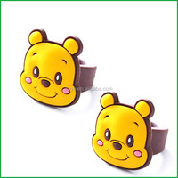 Eco-friendly Soft PVC cheap funky rings / cartoon rings for children's gifts