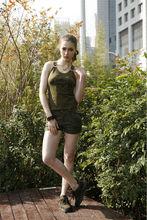 Custom 100% cotton women sleeveless shirt
