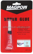 Super glue for metal, wood, plastic, rubber