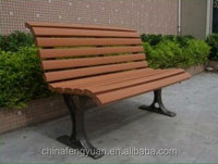 Alibaba China factory cheap outdoor seating public wooden long bench chair with backrest and arm