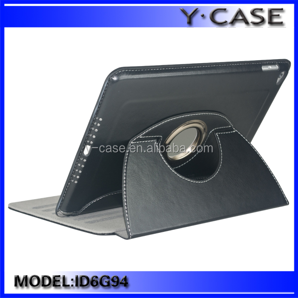 360 degree Rotating Leather Case For iPad Air 2/iPad 6 with competitive price