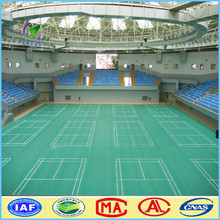 Alibaba china removable lichee 4.5mm badminton court sport flooring
