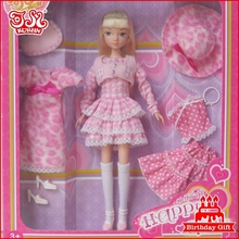 11.5 inch pvc fashion dressed up doll good price