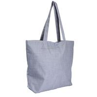 grey Women Shopping Canvas Bags Zipper Eco Versatile Shoulder Sack Tote Summer Holiday Beach Messenger DIY Painting Handbag