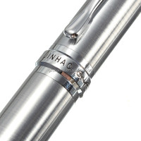 Excellent Quality Jinhao X750 Valued Silver Grey Fountain Writing Pen Gifts Decoration M Nib Trim