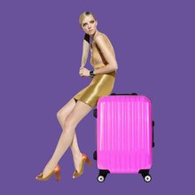 Newest Fashion Wholesale ABS Suitcase and ABS Luggage, Travel trolley luggage bag