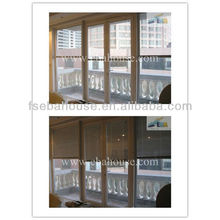 aluminum sliding glass door with built-in blinds CE Office partition wall remote control