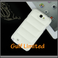 hand warmer PU leather back cover case for samsung note2