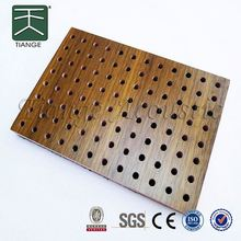 sound absorption mdf wooden perforated acoustic wall panel sound absorbing mdf board for auditorium and gym