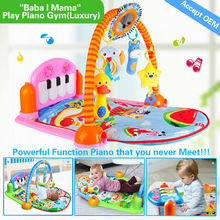 Hx910501 4 juegos 3 modos, 12 en 1 función de gran alcance juego de gimnasia para el bebé