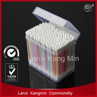 good quality colorful plastic stick cotton swab in bag