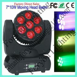 7x12w rgbw 4in1 or rgbwa 5in1 leds economic new coming mini 7 10 led moving head beam