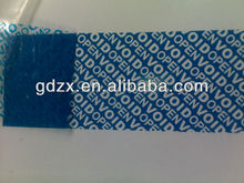 Tamper Evident security adhensive VOID OPEN WARRANTY label material