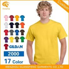 Gildan2000รายการผ้าฝ้าย100%ธรรมดาเสื้อยืดในราคาถูกขายส่ง