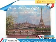 travel in Paris eiffel tower iron tin metal fridge magnet tourist souvenirs