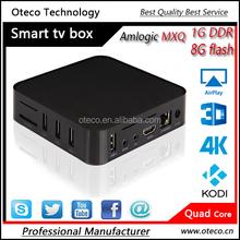 Amlogic s805 Quad core Android tv box MXQ 1g ram 8g rom OS 4.4 Mali450 GPU H.265 With KODI installed full hd medial player