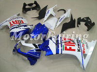 Fairing kit for KAWASAKI Ninja 250R EX 250 2008 2009 2010 2011 EX250 ZX250R 08 09 10 11 white blue