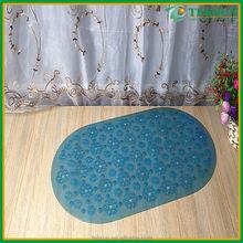 Waterproof custom modern design hotel bathroom pvc shower mat