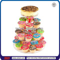 Tsd-a257 modificado para requisitos particulares al por menor tienda de 4 niveles de acrílico redonda de la torta de boda del soporte de exhibición / estallido de la torta del soporte / de la torta de acrílico pantalla