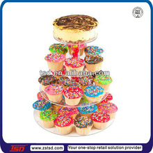 TSD-A257 Customized retail store 4 tier round acrylic wedding cake display stand/acrylic cake pop stand/acrylic cake display