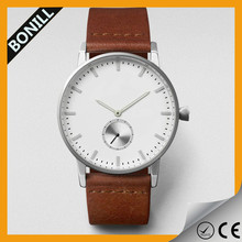 2015 bonill new and cool model leather strap bracelet wrist geneva watch for lovers