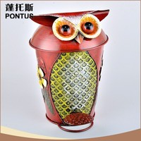 Top quality cute animal shape eco friendly stocked cheap metal trash can