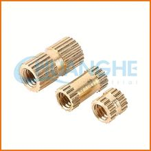 China manufacturer best price brass knurled flat head nut
