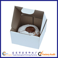 Custom Smooth White Double Cupcake Box cheap