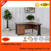 L shaped melamine office furniture table/excutive office tables with metal legs