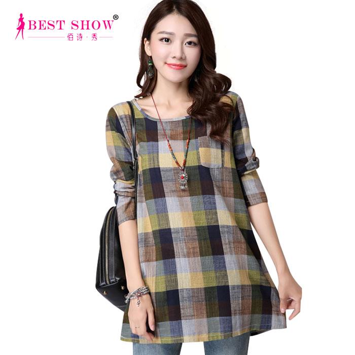 Wholesale large size plaid shirt women long sleeve casual for Oversized plaid shirt womens