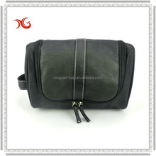 Leather toilet kit bag for travelling
