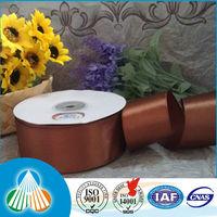 10cm wide brown polyester satin ribbon for big flower