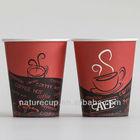 logotipo personalizado quente beber copos de papel revestido do pe alimentos grau