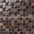 Mosaico de vidrio mezcla de resina y mármol decoración salón frontera