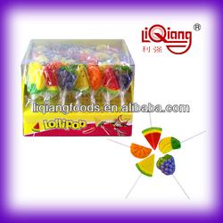 LQS038 Fruit Lollipop(hard lollipop, colorful lollipop, candy)