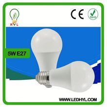 5W high light LED e27 globe bulb led bulb with die-casting aluminum